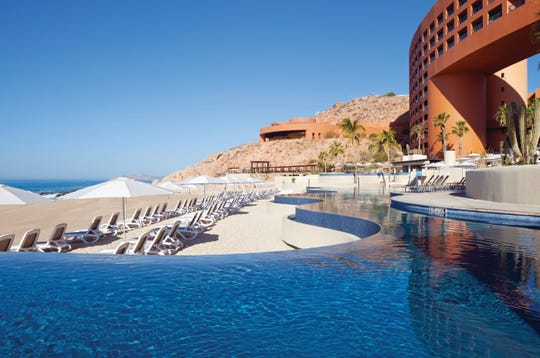 The pool and beach at the Westin Los Cabos
