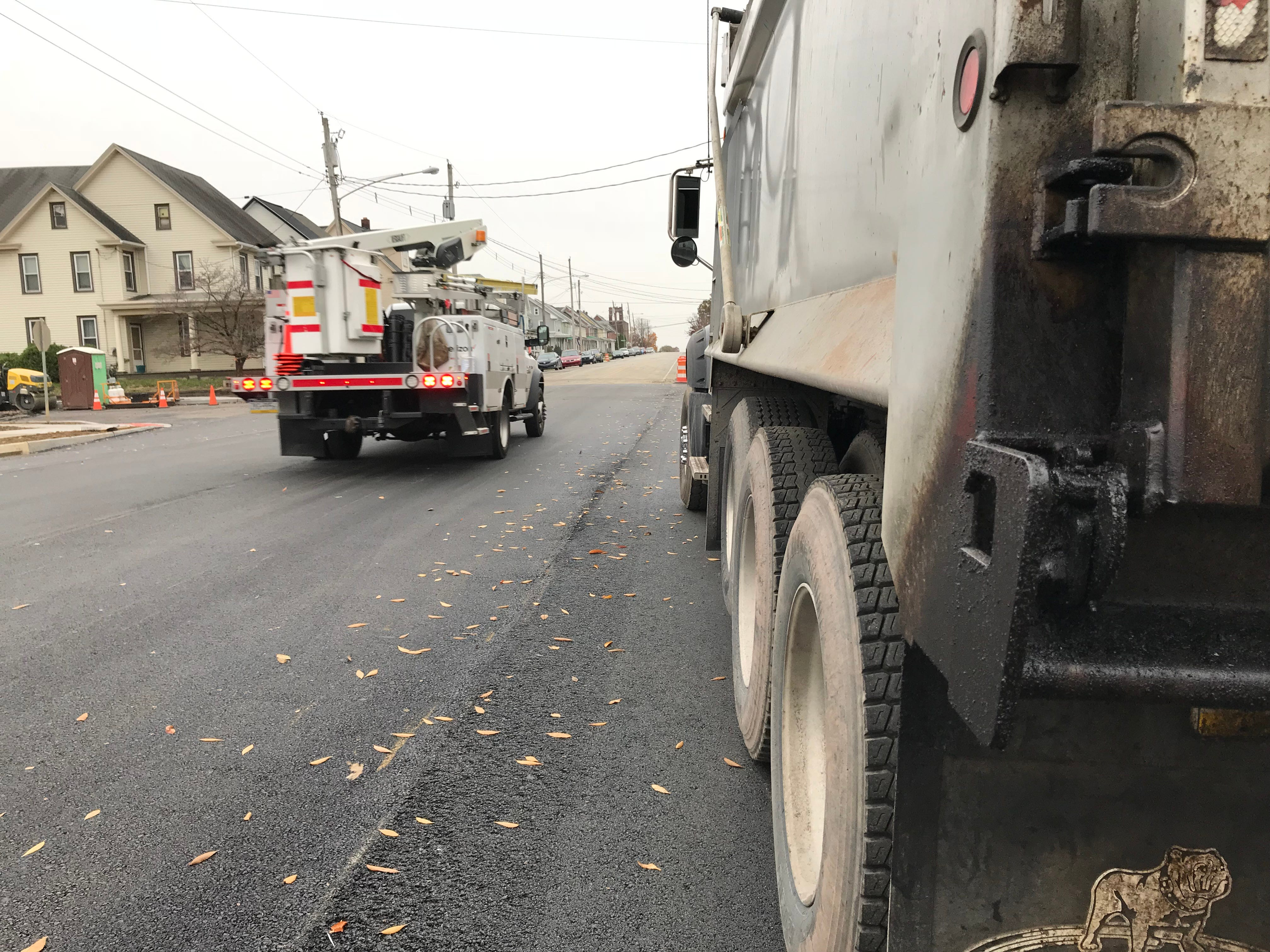 Cherry Street in Palmyra Borough in the area of Grant Street officially re-opened Nov. 9, 2018. The street was closed due to sinkhole damage since Oct. 2014.
