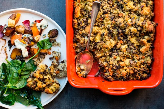 Food Column Deadline Mushroom Cornbread Stuffing 2