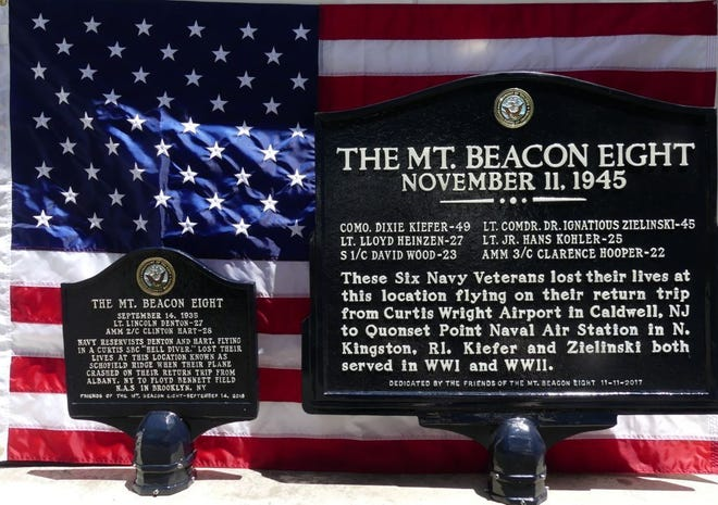 The Mount Beacon Eight will be honored at wall plaque dedication ceremony on Sunday, Nov. 11, 2018.