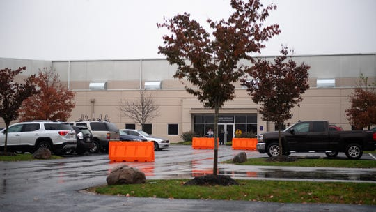 York City Police officers were alerted by West Manchester Township Police of a stabbing at the FedEx Supply ChainÊfacility, Friday, November 9, 2018.