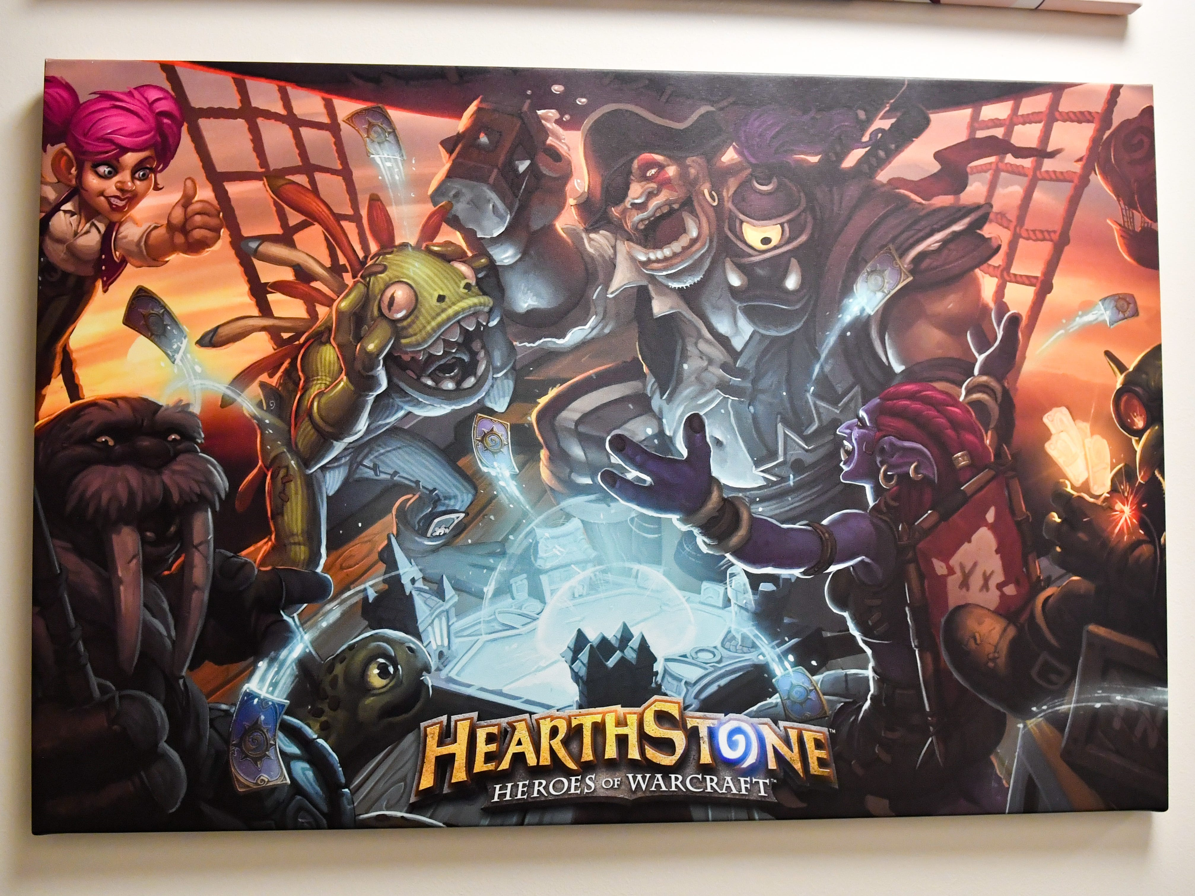 Hearthstone is a game that the LVC Esports team excels at. They practice everyday honing their skills.
