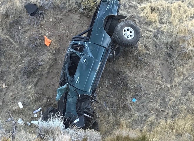 One person died in a rolled truck discovered Thursday, Nov. 8, 2018 on Peavine Peak.