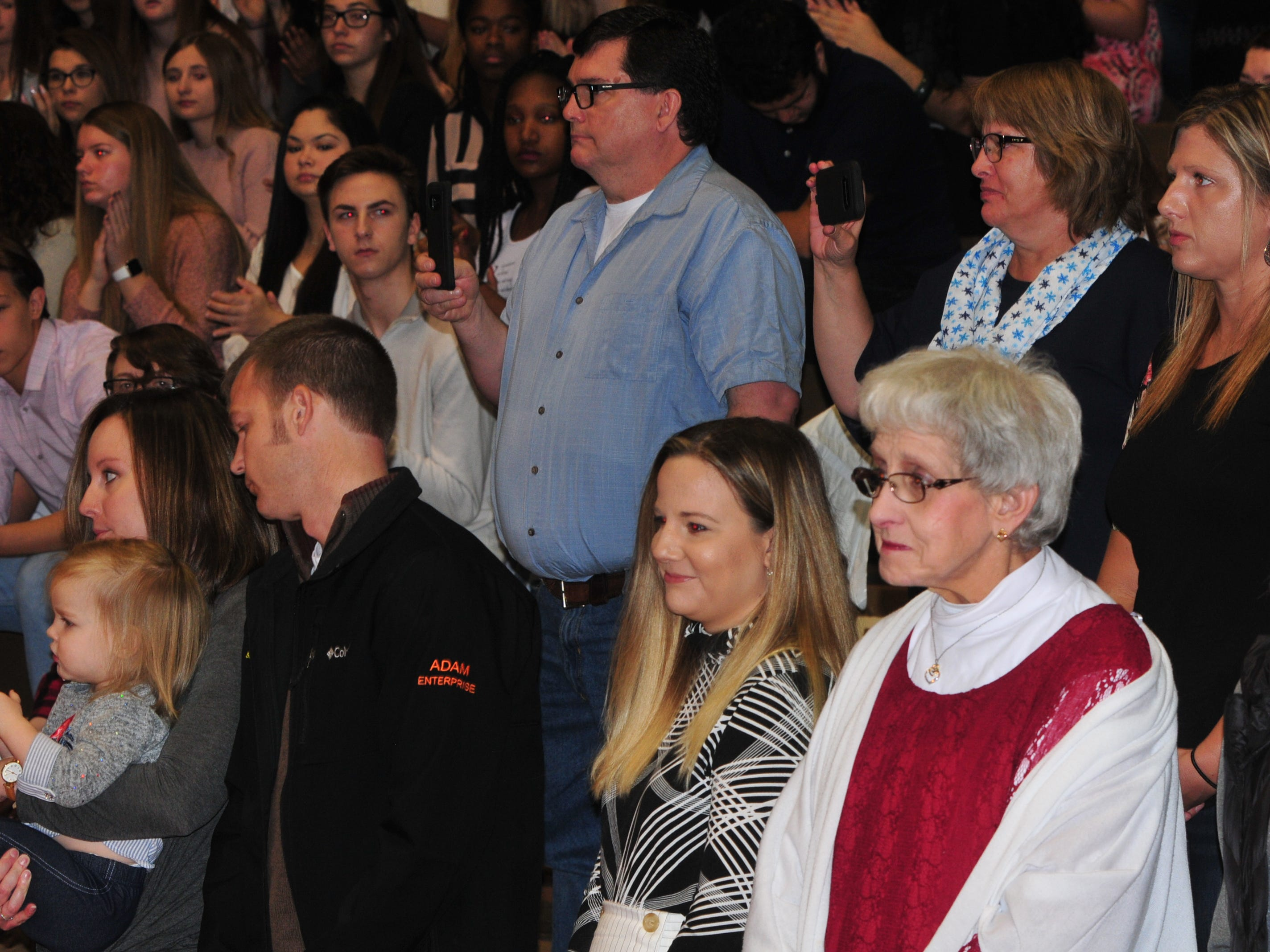 Members of Bill Grimes' family attended Friday's Veterans Day Program to see him receive a Richmond High School diploma.