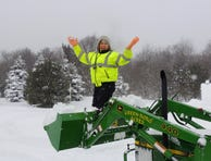 Redfield NY weather observer Carolyn Yerdon reveling in February snowfall.