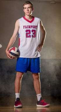 Fairport volleyball player Ryan Parker