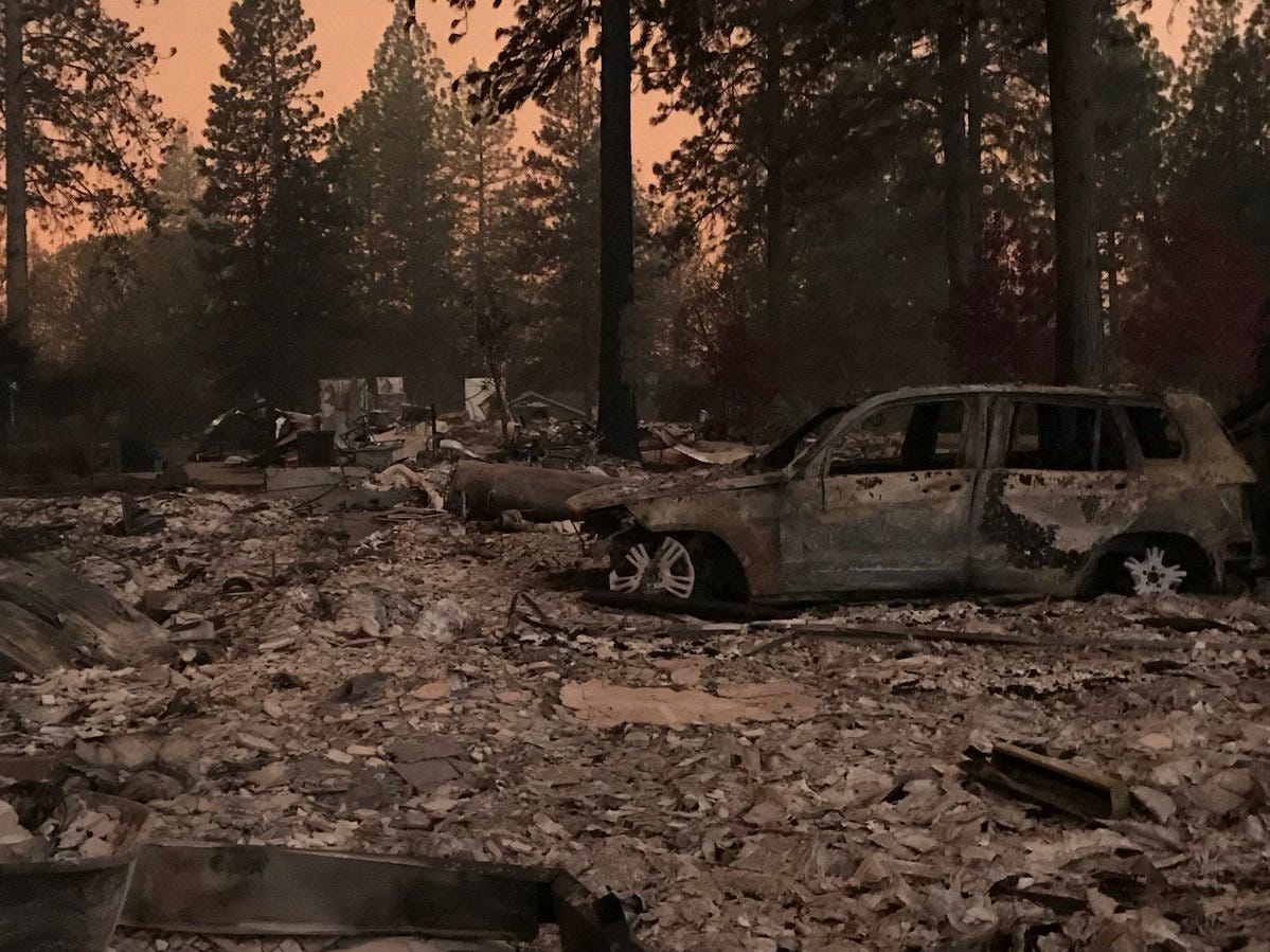 This residence in the Unique Acres subdivision burned to ash in the Camp Fire on Nov. 8, 2018.