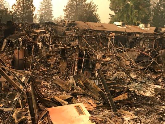 Camp Fire in Butte County, California