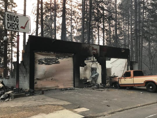 Only a shell remained of this Paradise business after the Camp Fire devastated the area Thursday (Nov. 8, 2018).