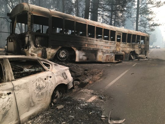 The Camp Fire, which started in Butte County on Thursday Nov. 8, 2018, swiftly devastated Paradise, California.