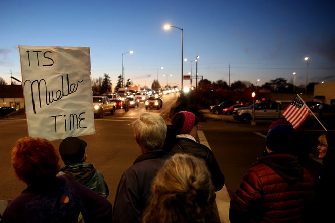 A Nobody is Above the Law rally in downtown Salem on Thursday, Nov. 8, 2018. The demonstration was part of a nationwide protest following the forced resignation of former Attorney General Jeff Sessions.
