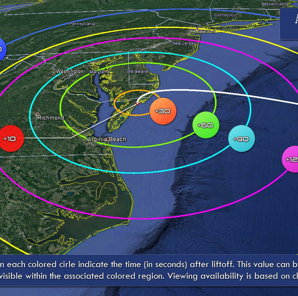 Want to see a rocket launch? Here's where to watch one on the East Coast next week