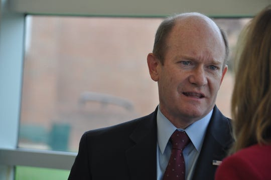U.S. Sen. Chris Coons, who is up for re-election in 2020, attended Return Day in Georgetown on Nov. 8, 2018.