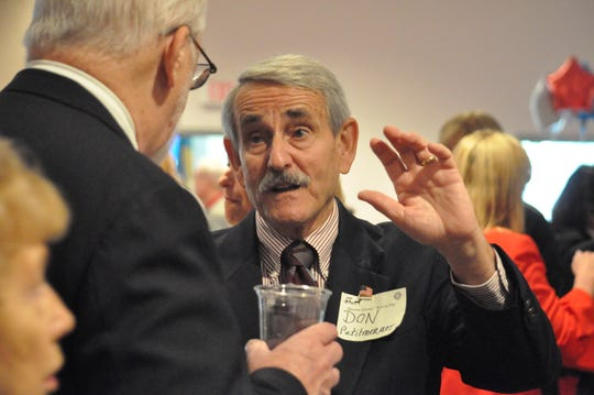 Sussex County Republican Committee Chair Don Petitmermet attends the Return Day candidate reception at Delaware Technical Community College in Georgetown on Nov. 8, 2018.