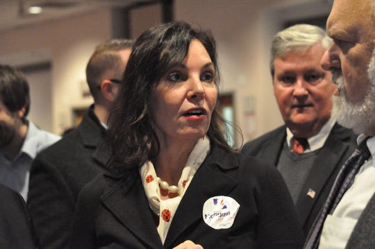 Kathy McGuiness at a Return Day event in November. McGuiness said a review of her department shows it may not have enough resources to do its mandated work.