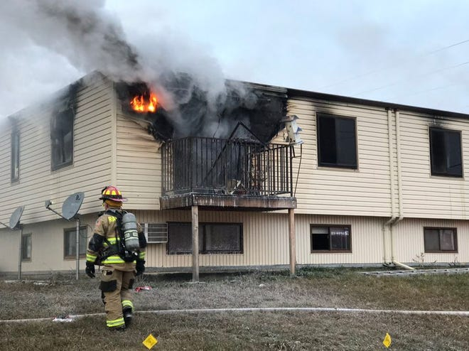 Rapid City firefighters rescued several people from an apartment fire on the morning of Friday, Nov. 9, 2018.