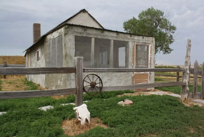 The Badlands 1880 Homestead Cabin is located just a few miles from the Badlands National park Headquarters.