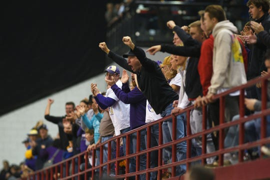 Sully Buttes fans cheer during the game against Colome in the 9B Championships Friday, Nov. 9, at the DakotaDome in Vermillion.