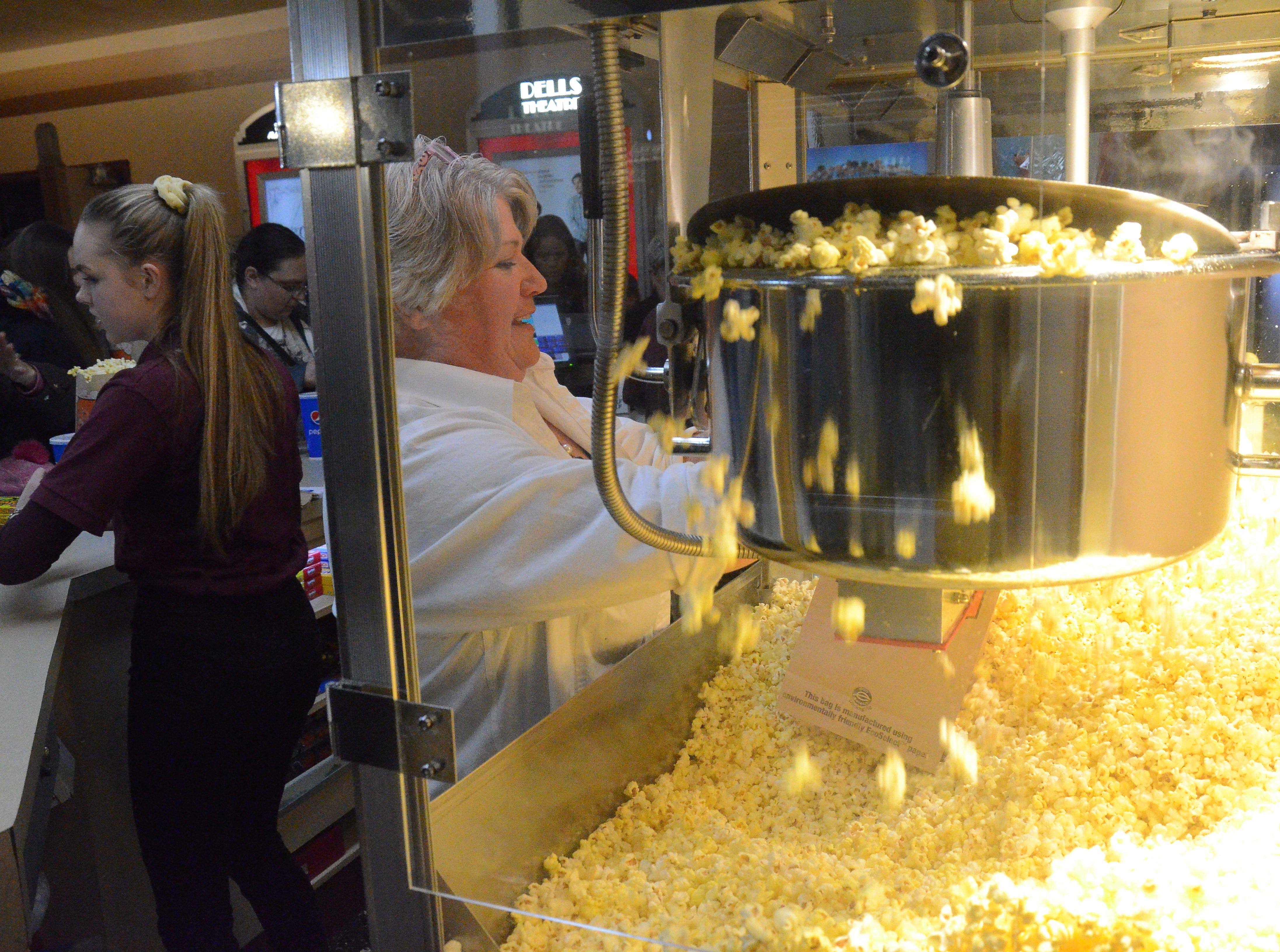 Plenty of popcorn awaited the crowd Thursday night at the Dells Theatre.