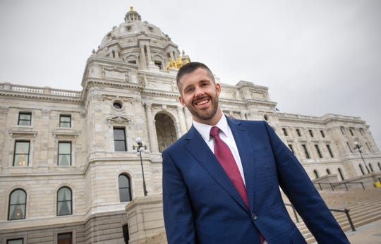 In this November 2018 file photo, Dan Wolgamott smiles after a tour of the state Capitol in St. Paul.