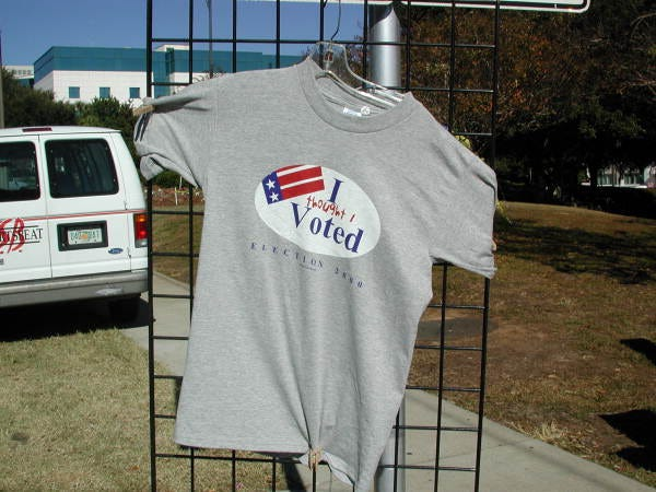 T-shirt from 2000 presidential election vote dispute