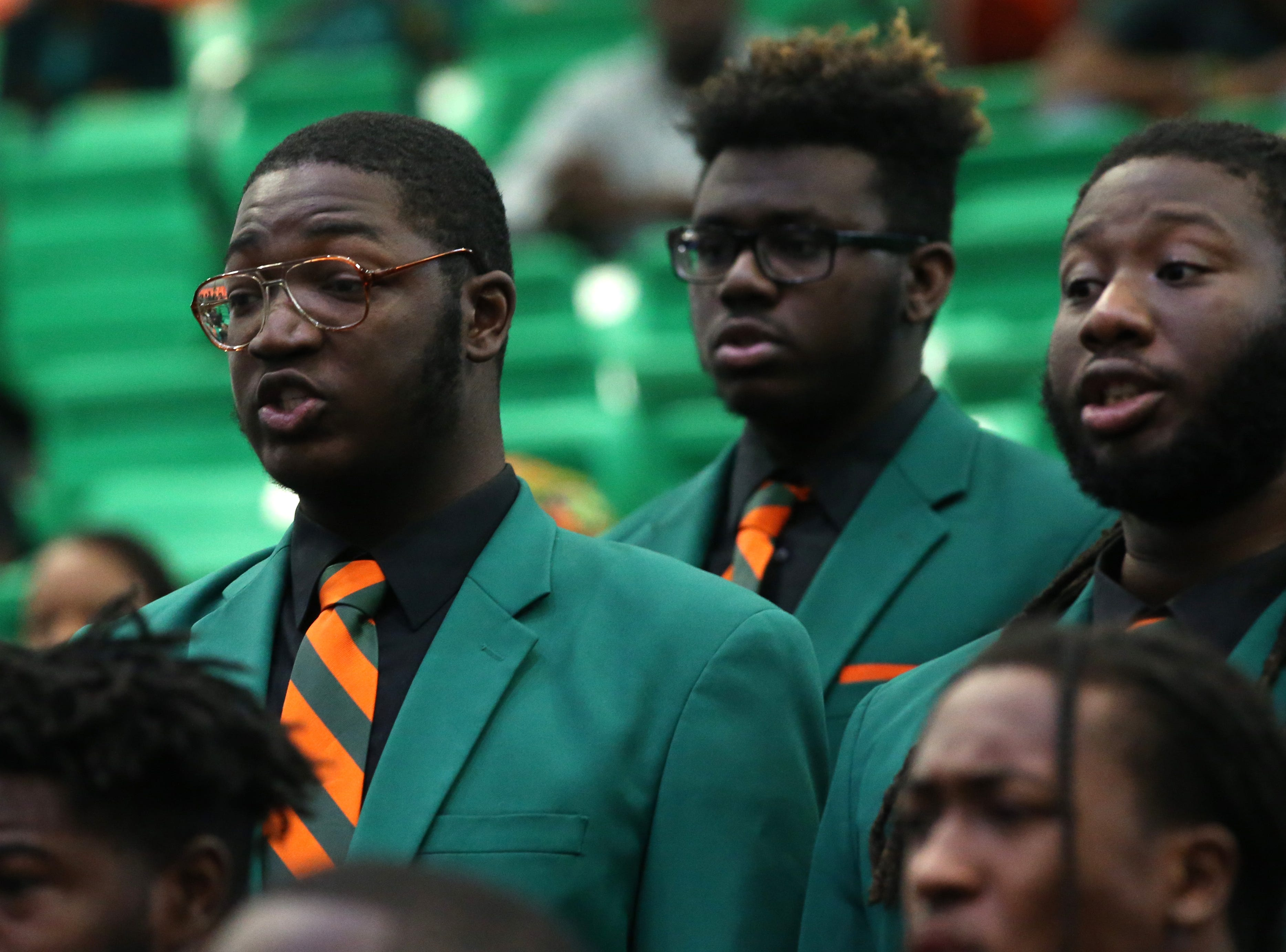 The FAMU Concert Choir perform in honor of President Larry Robinson at the 2018 Presidents' Inauguration held in the Lawson Center on Friday, Nov. 9, 2018.