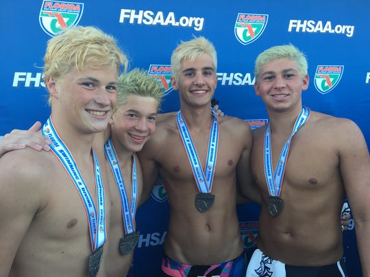 Maclay's 200-meter medley relay team of Ryan Rumana, Wade Eastman, Martin Jilek and Rafi Chambasian broke the school record while finishing eighth in Class 1A in 2017.
