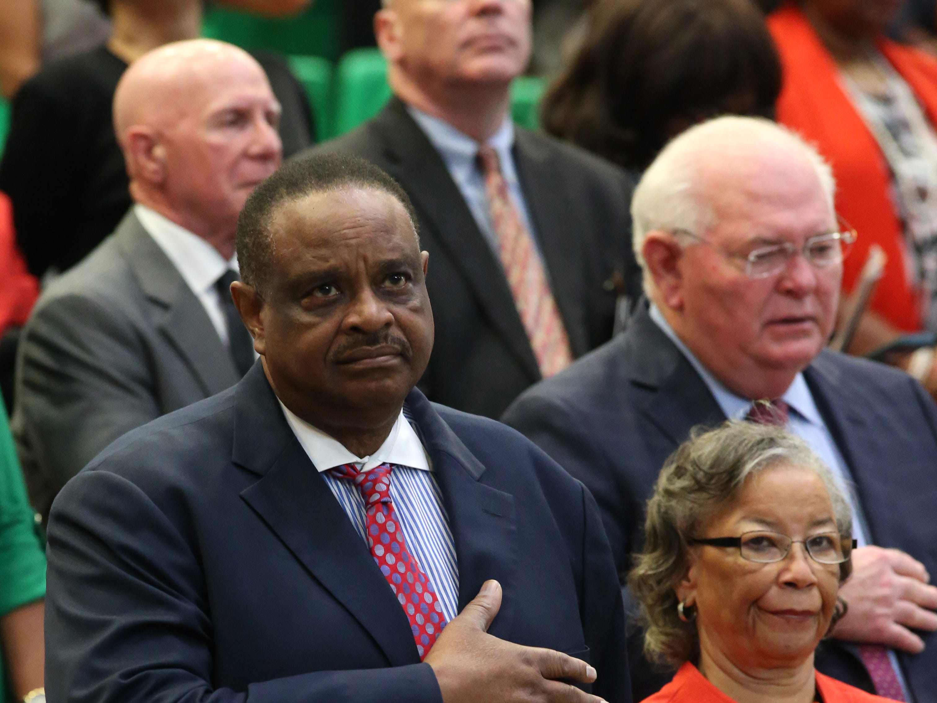 Congressman Al Lawson attends at the 2018 Presidents' Inauguration for Larry Robinson, held in the Lawson Center on Friday, Nov. 9, 2018.