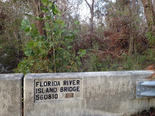 The one-lane, concrete bridge to Florida River Island is still closed in Liberty County.