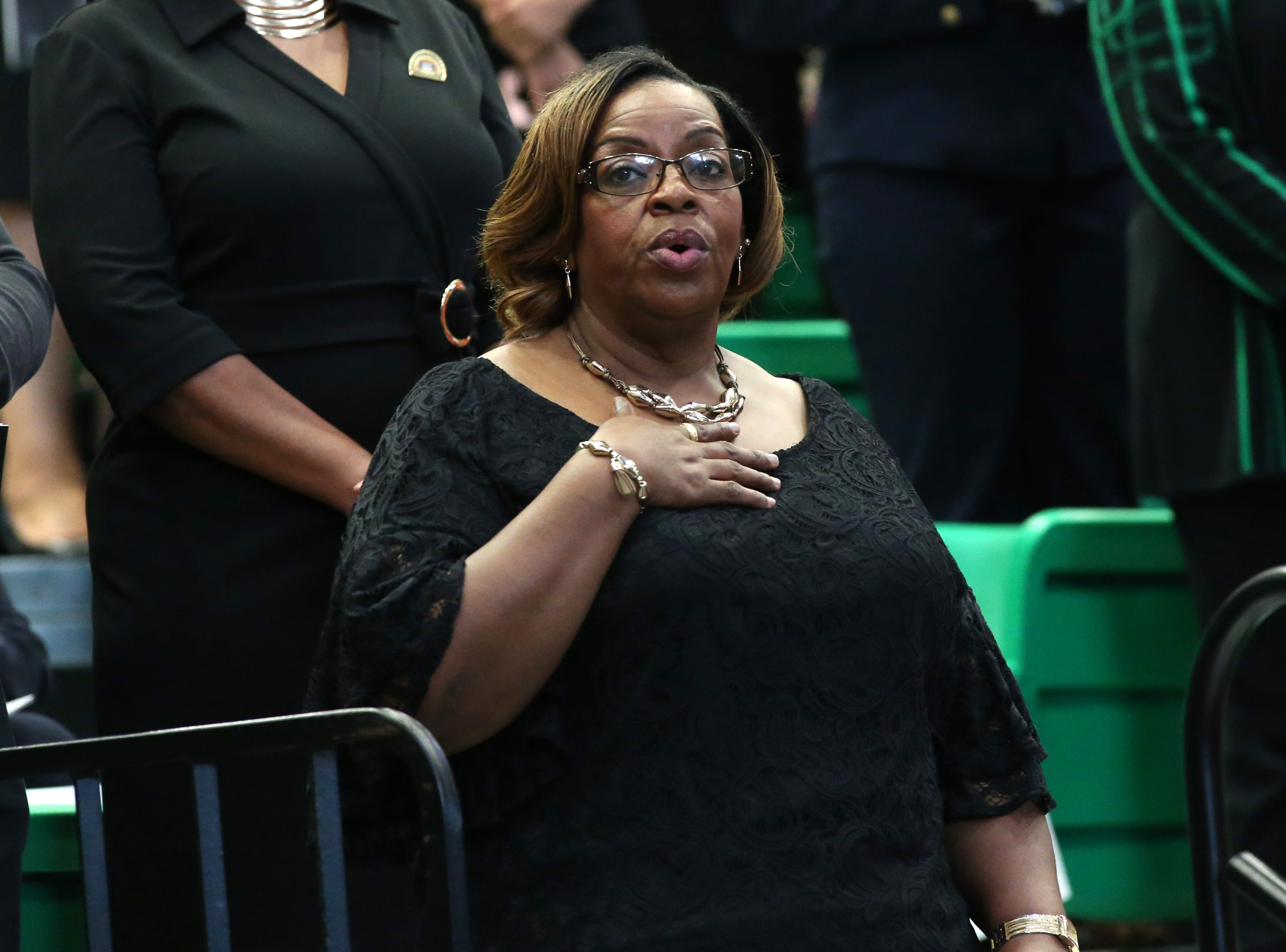 FAMU Alumni, current students, and supporters attend the 2018 Presidents' Inauguration for Larry Robison at the Lawson Center on Friday, Nov. 9, 2018.