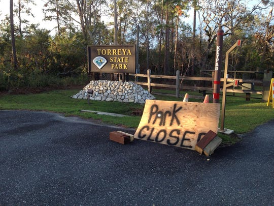 Torreya State Park on the bluffs of Apalachicola River in northern Liberty County is still closed as of Nov. 8.