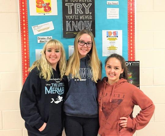 (From left) Sarah McFadden, Amanda Pescatore and Jess McFadden