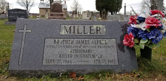 Brother James Miller is buried in the cemetery of St. Martin Church in Polonia.