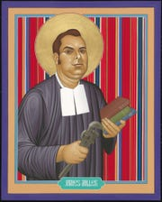 This icon of Brother James Miller was commission by the Brother James Miller Day Committee and Diocese of La Crosse.