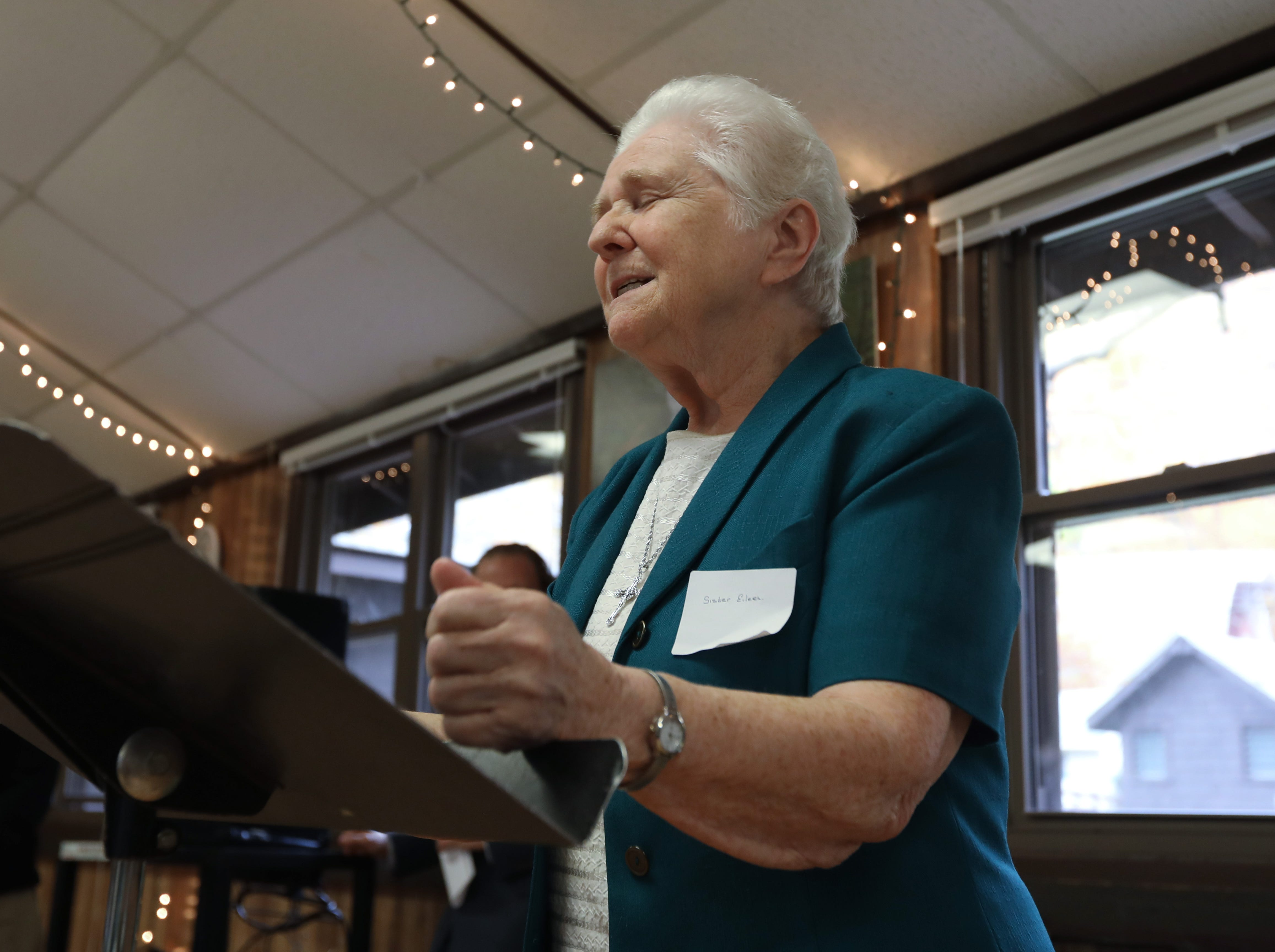 Sr. Eileen O'Farrell of Marydell speaks about Strawtown Studio's new home at the Marydell Faith and Life Center in Nyack Nov. 9, 2018. Strawtown Studio runs arts and ecology programs for children and young adults.