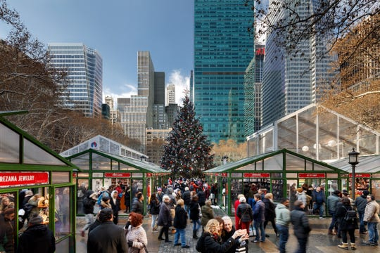 The holiday shops are open at Bank of America Winter Village at Bryant Park