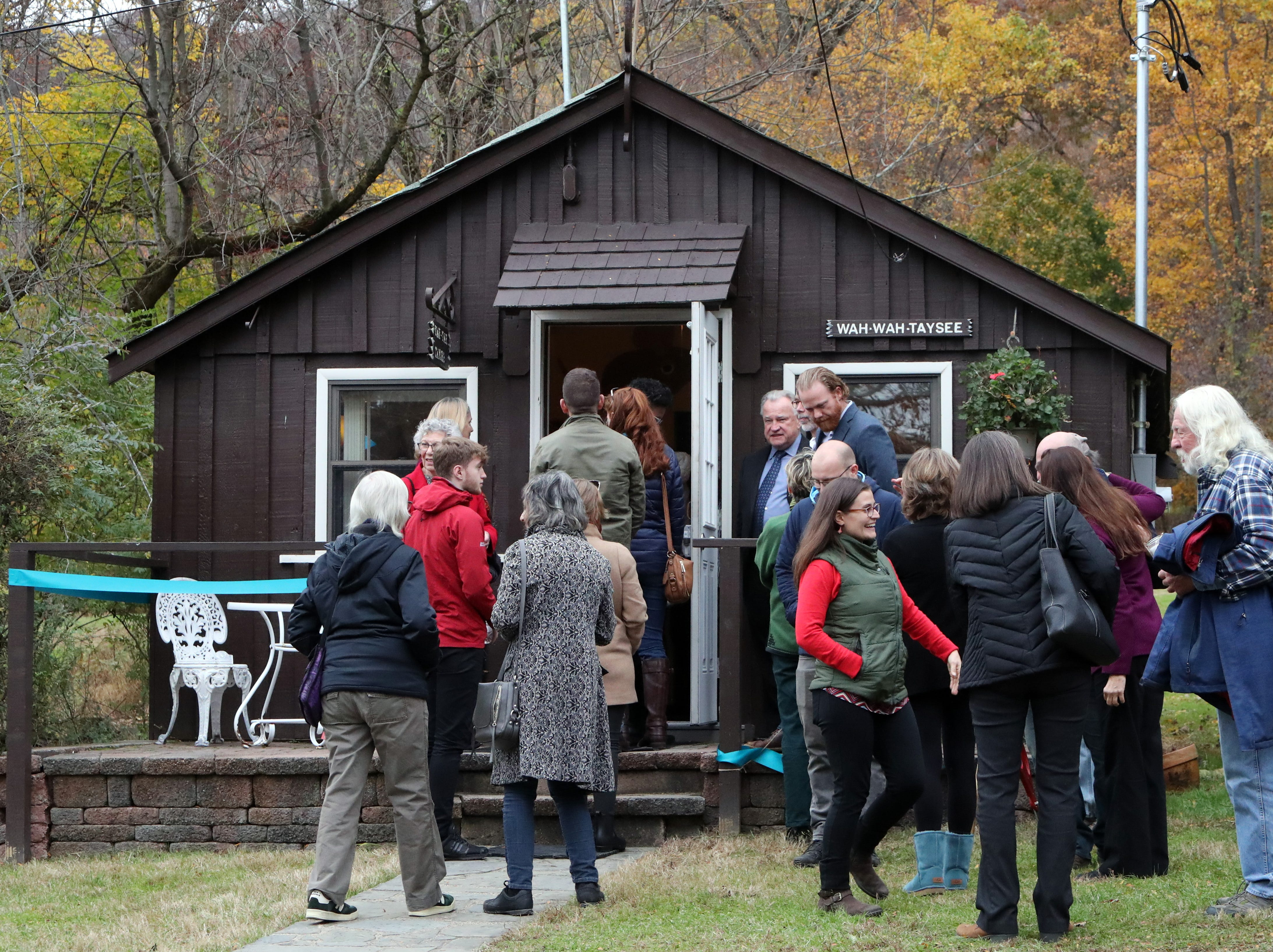 An opening ceremony was held for Strawtown Studio's new studios at the Marydell Faith and Life Center in Nyack Nov. 9, 2018. Strawtown Studio runs arts and ecology programs for children and young adults.