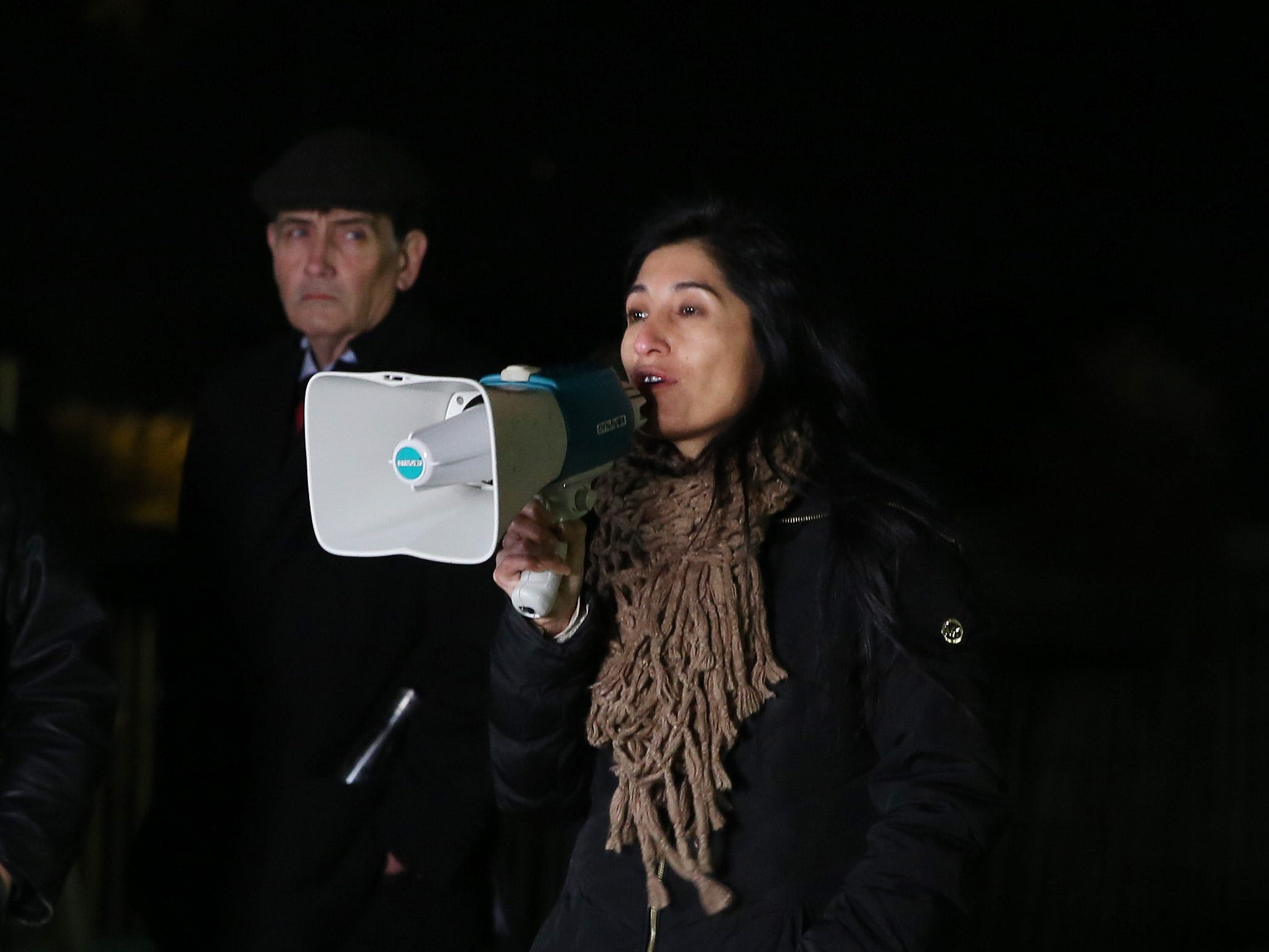People take part in a anti-violence candlelight vigil at Harbor Island Park in Mamaroneck Nov. 8,  2018.