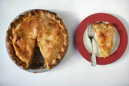 Rick Rodgers' apple pie can be baked frozen for Thanksgiving dinner.