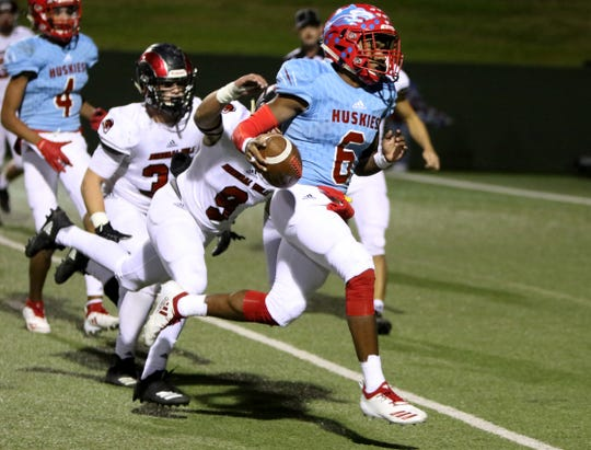 Hirschi senior Nate Downing's season was cut short, but it didn't keep him from being honored on the Red River 22 team.