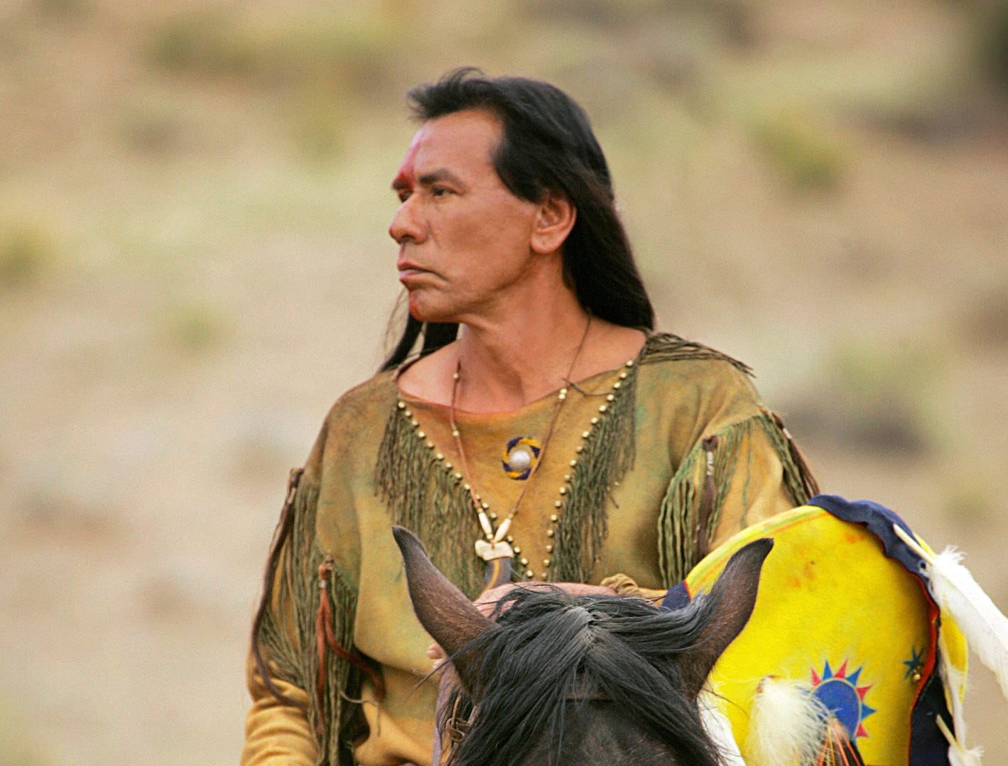 "Wes Studi (""Into The West"") stars in COMANCHE MOON, a new six-hour mini-series based on the book by Larry McMurtry, the prequel to McMurtry's bestselling and Pulitzer Prize-winning book, Lonesome Dove, which was the basis for the multiple Emmy Award-winning mini-series ""Lonesome Dove,"" to be broadcast Sunday Jan. 13, Tuesday Jan. 15 and Wednesday Jan. 16 (9:00-11:00 PM, ET/PT each night) on the CBS Television Network. --- DATE TAKEN: rec'd 01/08  By Monty Brinton   CBS        HO      - handout   ORG XMIT: ZX65900"