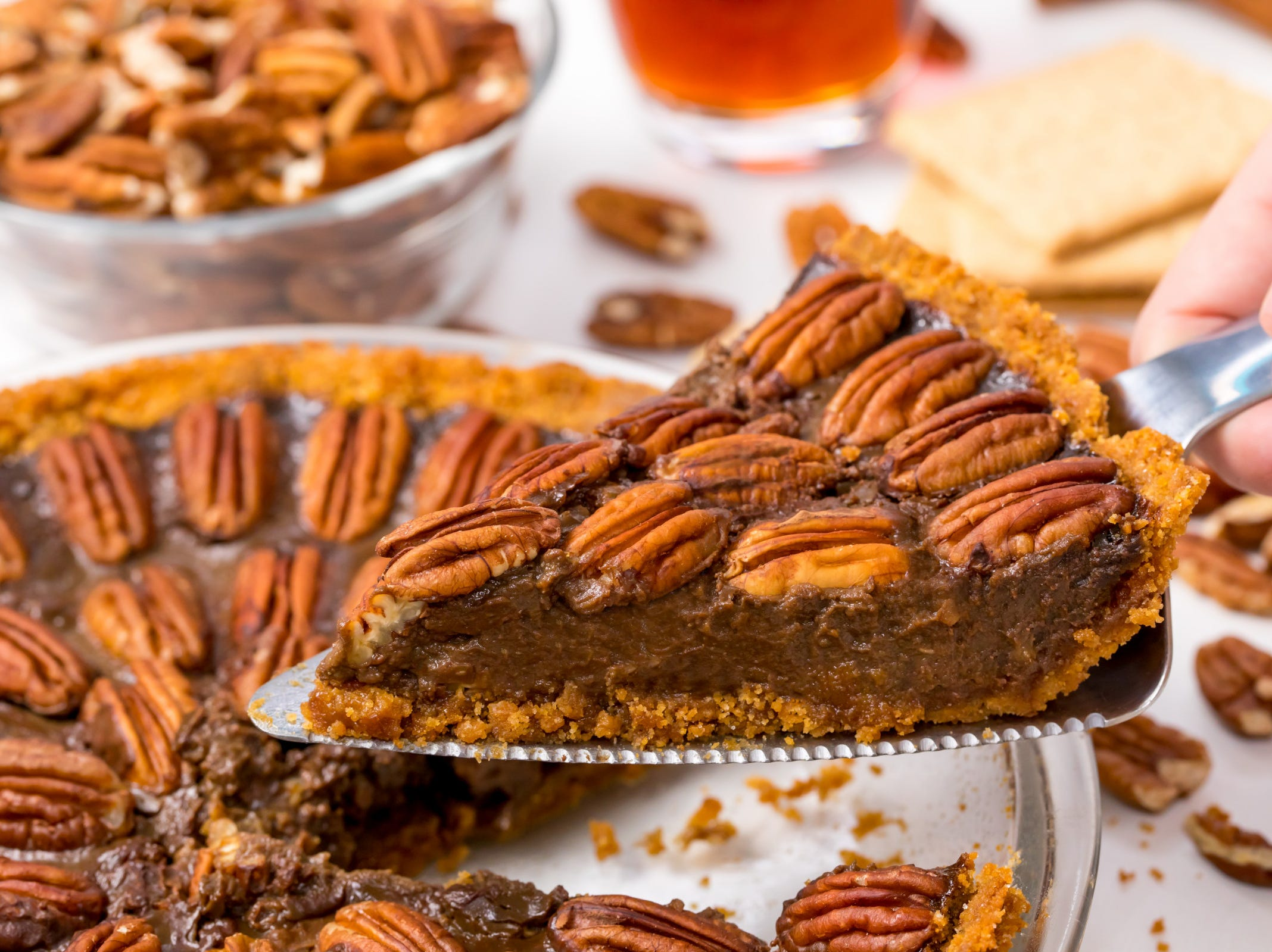 Now you can have your pie, and eat it too — especially if it's a healthy vegan chocolate pecan pie. Eating vegan (or just healthfully) no longer means missing out on your favorite treats. This recipe, inspired by Chocolate Covered Katie, still lets you eat clean while enjoying a decadent classic.