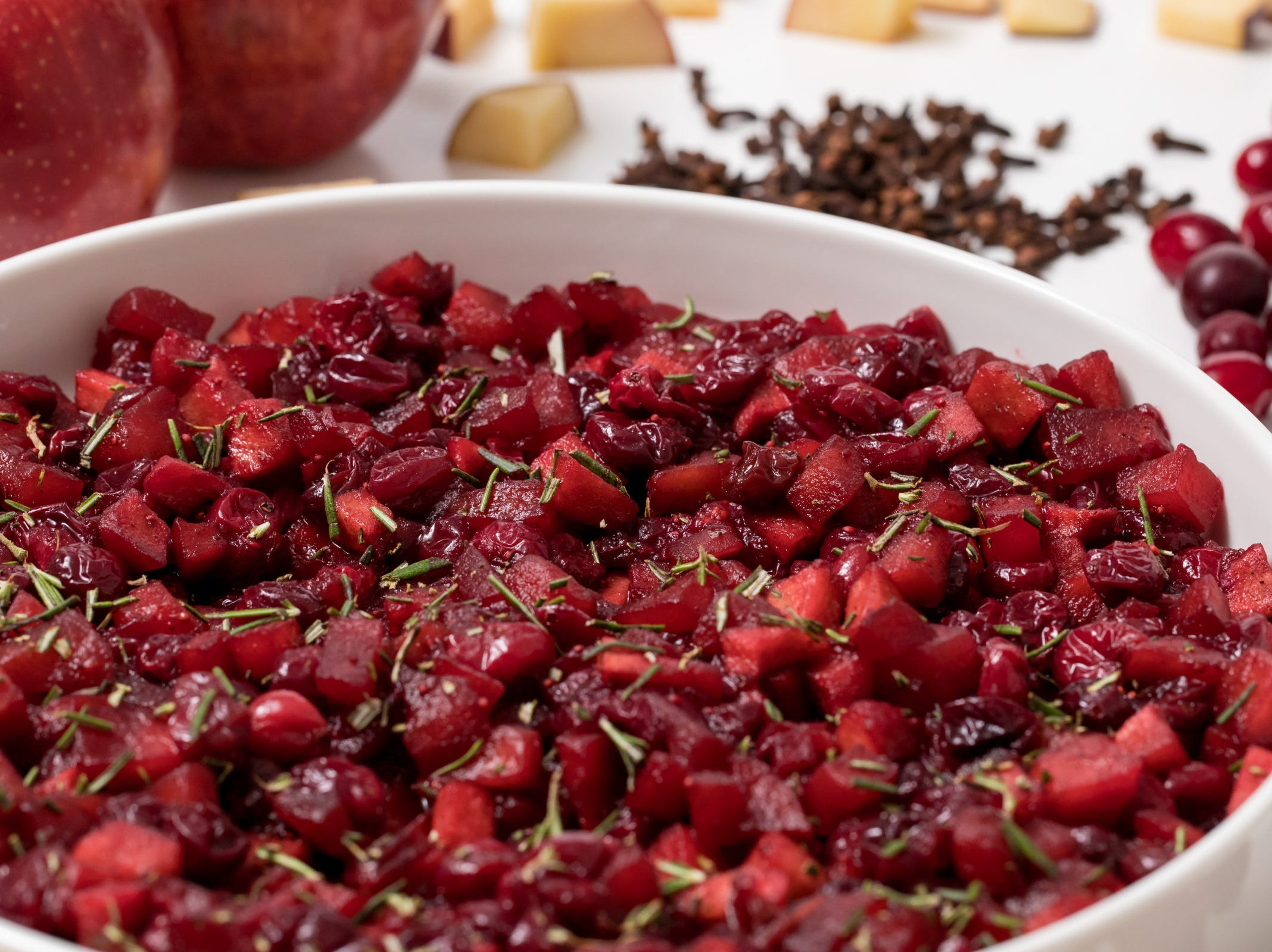 Craving a new twist on the traditional cranberry sauce for your Thanksgiving table? Try this roasted apple cranberry relish, inspired by Budget Bytes, and watch your family and friends go wild for this spicy, jammy holiday condiment.