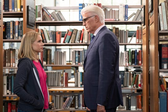 Kristen Bell and Ted Danson in NBC's 'The Good Place,' which gets a substantial portion of its younger viewers online.