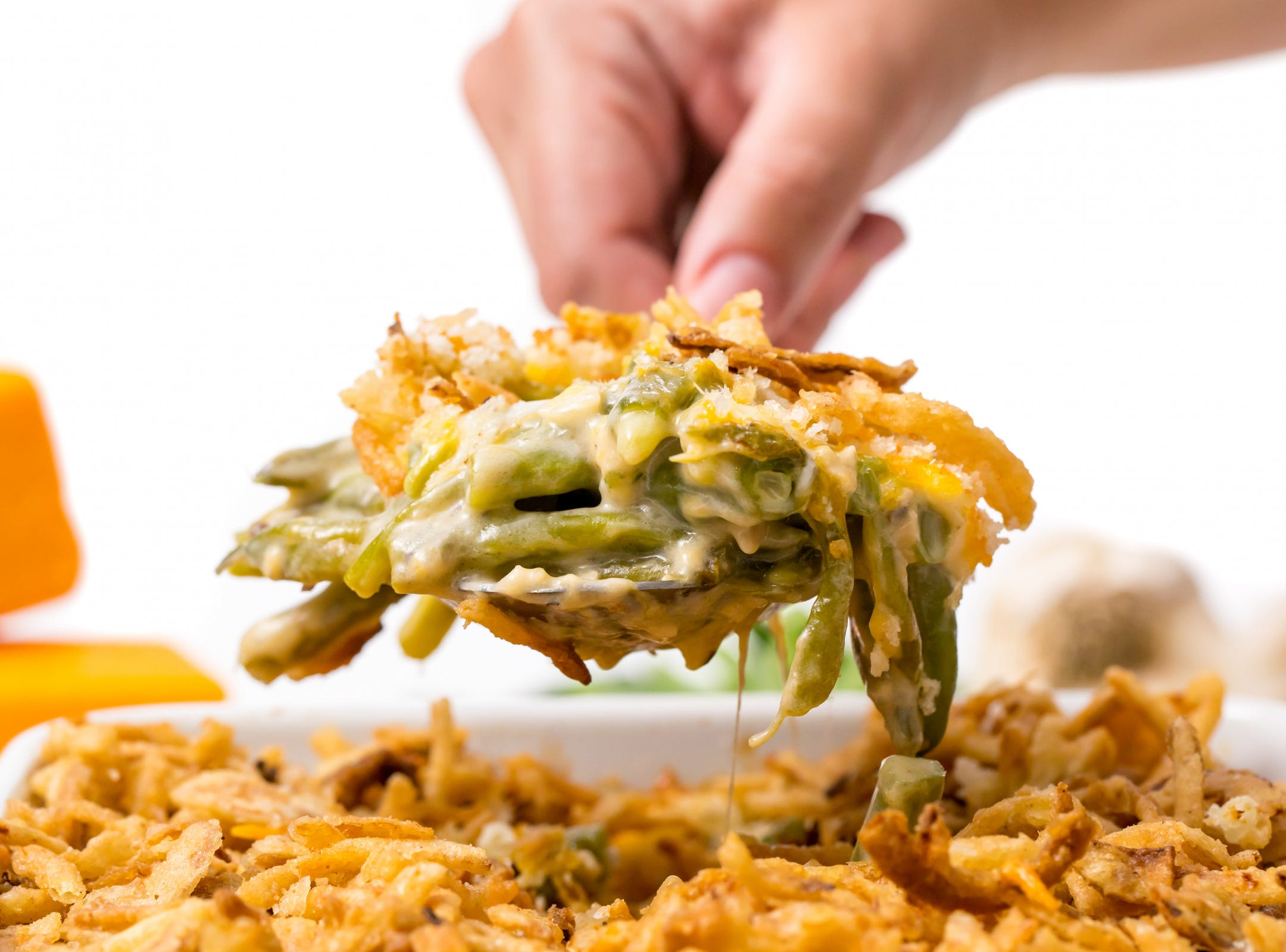 Cheesy, crunchy and garlicky: Could you ask for anything more from green beans? Kicking the classic green bean casserole up a notch, this Instant Pot green bean casserole recipe, inspired by Stay Snatched, will have you and your fellow diners digging for seconds.