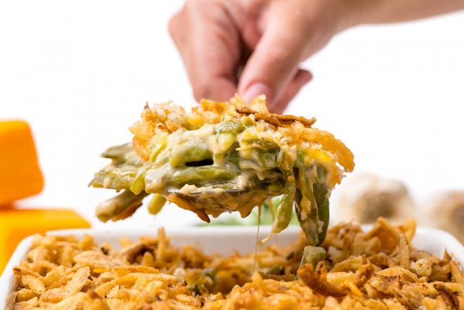 Green bean casserole is a must on any proper southern Thanksgiving table.