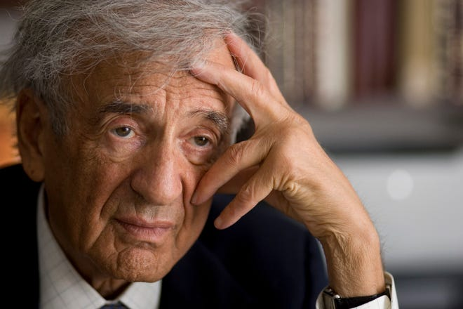 Author and Nobel Peace prize winner Elie Wiesel, photographed in his New York office on Jan. 29, 2009.