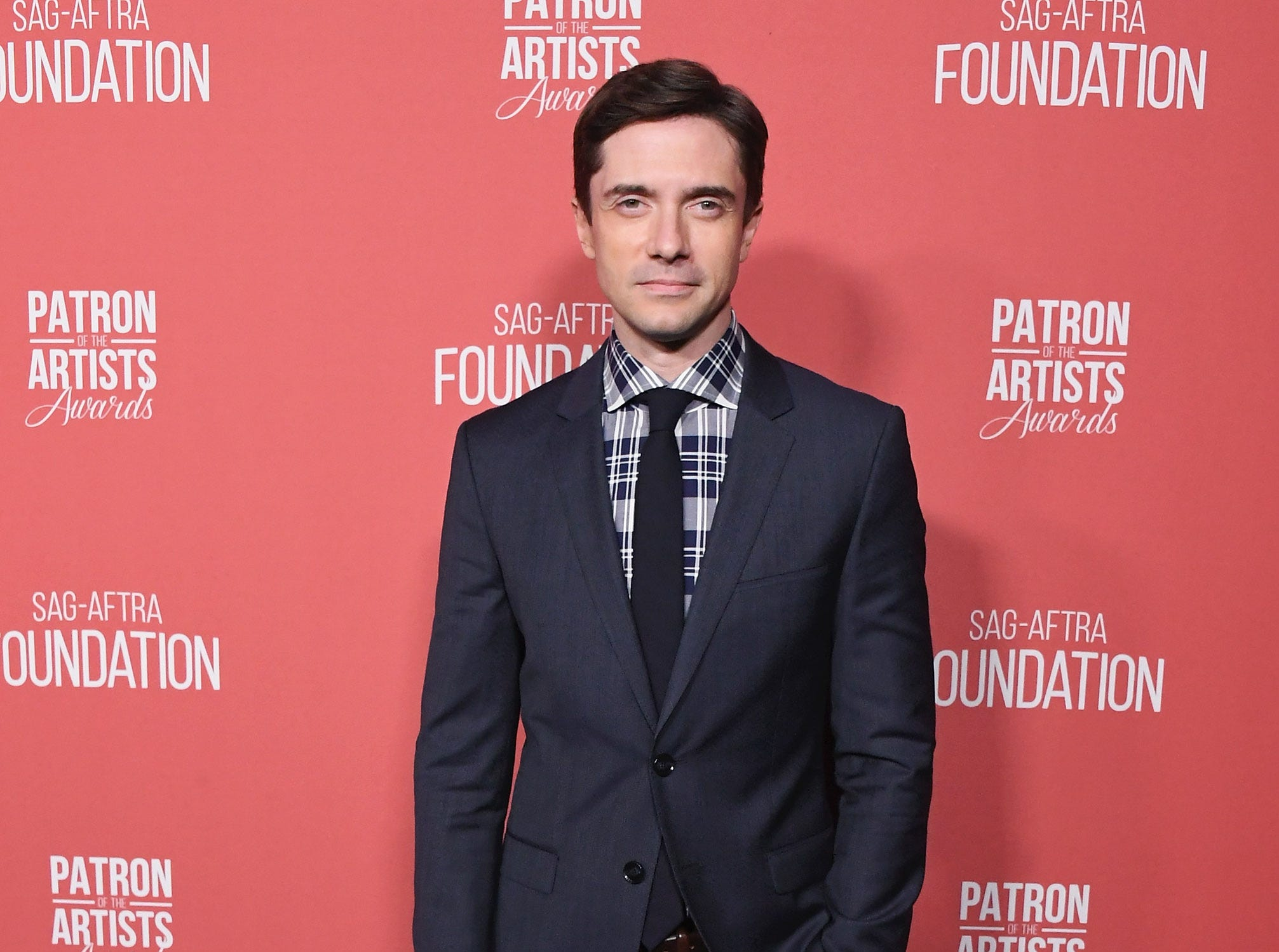 BEVERLY HILLS, CA - NOVEMBER 08:  Topher Grace attends SAG-AFTRA Foundation's 3rd Annual Patron Of The Artists Awards at Wallis Annenberg Center for the Performing Arts on November 8, 2018 in Beverly Hills, California.  (Photo by Jon Kopaloff/FilmMagic) ORG XMIT: 775233471 ORIG FILE ID: 1059469434
