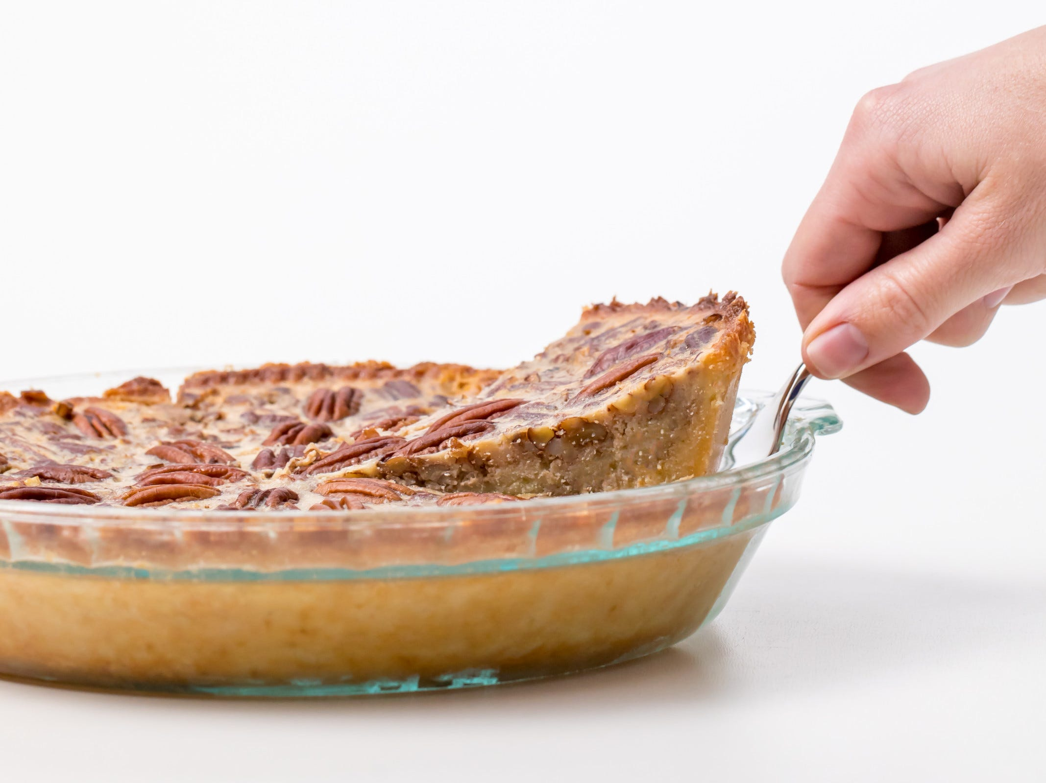 This keto pecan pie recipe, inspired by Grass Fed Girl, gives us a rich, toasty homemade dessert. It's so good, you'll think you're having a cheat day.