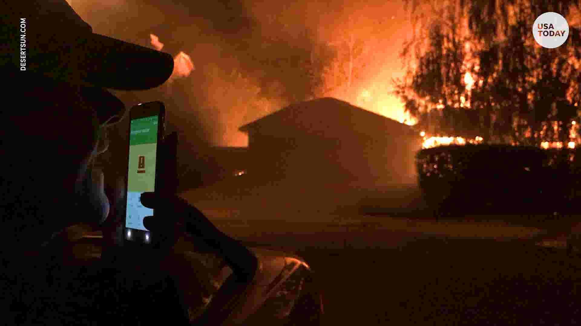Woolsey Fire: Woman dials 911 as her neighborhood burns around her
